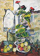 Natalia Gontcharova Still Life with a Geranium 1907