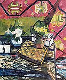 Natalia Gontcharova Still Life with Chessboard 1907