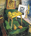 Natalia Gontcharova Fruits and Engraving In an Artists Studio c1907