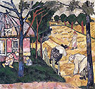 Natalia Gontcharova Getting in Wheat 1908