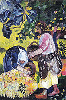 Natalia Gontcharova Picking Fruit Volet of a Polyptych 1908 B