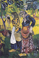 Picking Fruit Volet of a Polyptych 1908 C - Natalia Gontcharova