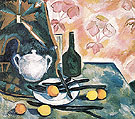 Still Life with a Green Bottle c1908 - Natalia Gontcharova