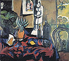 Still Life with a Pineapple c1908 - Natalia Gontcharova