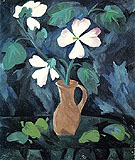Hollyhocks 1909 - Natalia Gontcharova