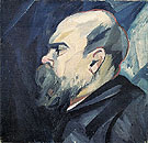 Portrait of Paul Verlaine c1909 - Natalia Gontcharova