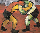 Natalia Gontcharova Wrestlers c1908