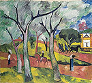 Natalia Gontcharova Spring Petrovsky Park c1909
