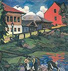 Natalia Gontcharova Provincial Landscape c1908