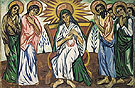 Natalia Gontcharova Mother of God Enthroned and Bystanders c1909