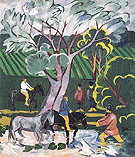 Natalia Gontcharova Bathing Horses 1911