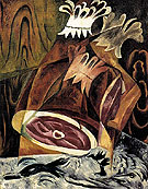 Natalia Gontcharova Still Life with Ham and Duck 1912