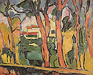 Landscape with Red Trees c1906 - Maurice de Vlaminck