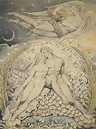 Satan Watching the Caresses of Adam and Eve 1808 - William Blake