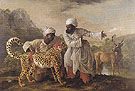 George Stubbs Cheetah and Stag with Two Indians 1765