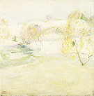 John Henry Twachtman The Snow Bound Stream c1890