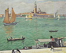 Albert Marquet Reproduction oil painting of Venise La Voile Jaune 1936