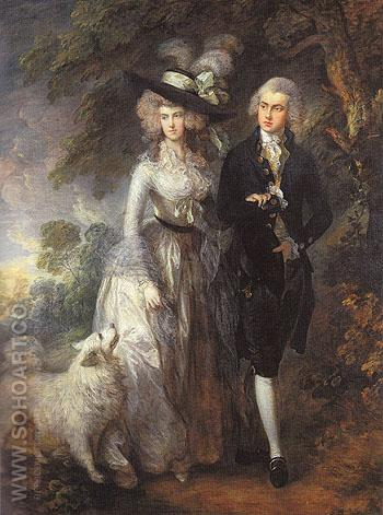 The Morning Walk Mr and Mrs William Hallett 1785 - Thomas Gainsborough reproduction oil painting