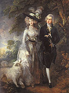 The Morning Walk Mr and Mrs William Hallett 1785 - Thomas Gainsborough