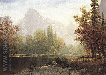 Half Dome Yosemite 1864 - Albert Bierstadt reproduction oil painting