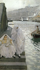 Anders Zorn In the Harbour of Algiers 1887