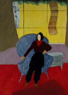 Milton Avery Girl In Wicker Chair 1944