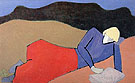 Milton Avery Reclining Reader 1950