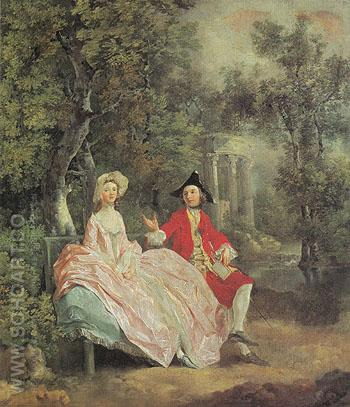 The Painter and His Wife c1746 - Thomas Gainsborough reproduction oil painting
