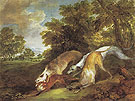 Dogs Chasing a Fox c1784 - Thomas Gainsborough