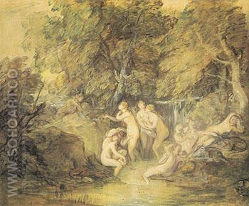 Diana and Actaeon c1785 - Thomas Gainsborough reproduction oil painting