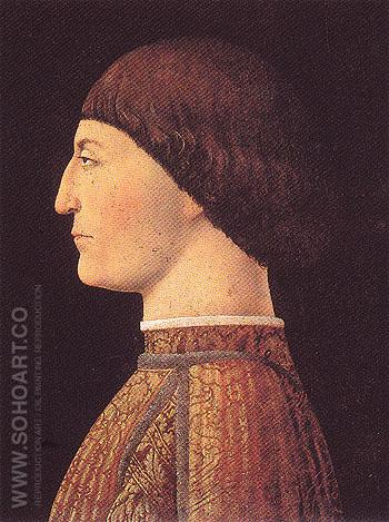 Portrait of Sigismondo Malatesta - Piero Della Francesca reproduction oil painting