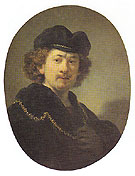 Self Portrait with a Gold Chain 1633 - Rembrandt