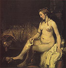Bathsheba at Her Bath 1654 - Rembrandt reproduction oil painting