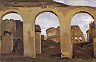 The Colosseum seen through the  Arcades of the Basilica of Constantine - Jean-baptiste Corot