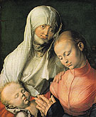 Virgin and Child with Saint Anne 1519 - Albrecht Durer