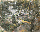Rocks in the Forest c1893 - Paul Cezanne reproduction oil painting