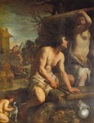 Guido Reni The Building of Noahs Ark c1608