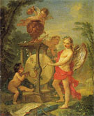 Cupid Sharpening His Arrow 1750 - Charles Joseph Natoire reproduction oil painting