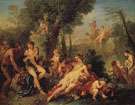 Bacchus and Ariadne - Charles Joseph Natoire reproduction oil painting