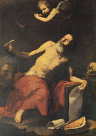 St Jerome Hears the Trumpet 1626 - Jusepe de Ribera reproduction oil painting