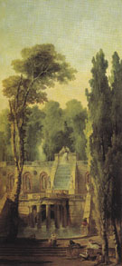 Landscape with Terrace and Cascade 1802 - Hubert Robert