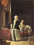 A Young Woman in the Morning c1659 - Frans van Mieris The Elder