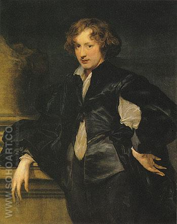 Self Portrait 1620 - Van Dyck reproduction oil painting