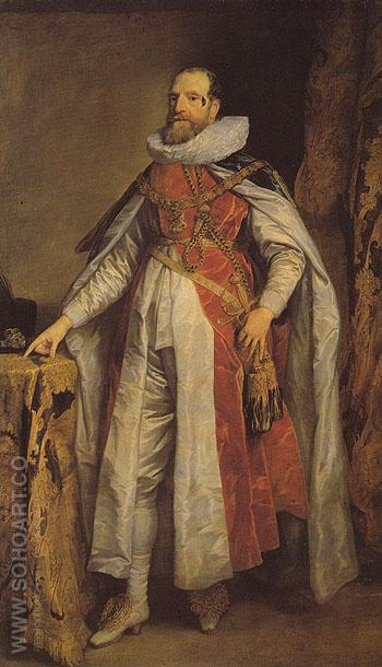 Henry Danvers Earl of Danby as a Knight of fthe Order of the Garter 1630 - Van Dyck reproduction oil painting