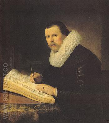 A Scholar 1631 - Rembrandt reproduction oil painting