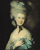 Thomas Gainsborough A Woman in Blue 1770