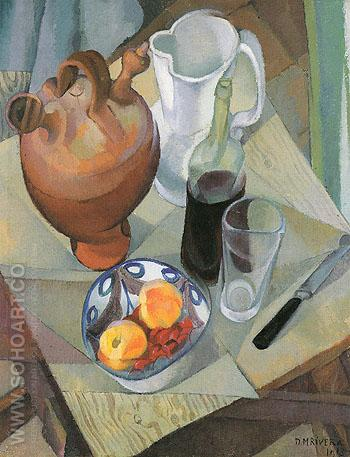 Still Life 1913 - Diego Rivera reproduction oil painting