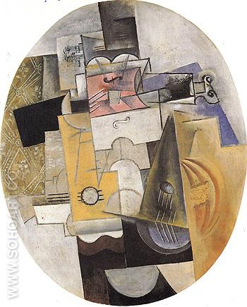 Musical Instruments 1912 - Pablo Picasso reproduction oil painting
