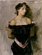  Isaac Israel Lady in Evening Gown ADAPT