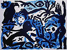 A R Penck Situation no Night 1992